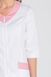 Casaca manga 3/4 contraste rosa