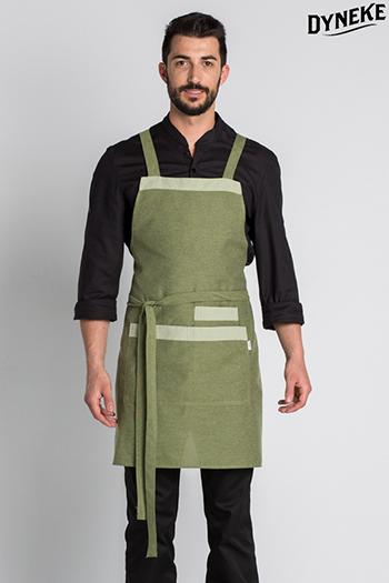 Bib apron green