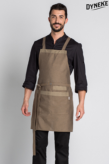 Bib apron brown.