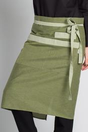 Delantal corto loneta verde