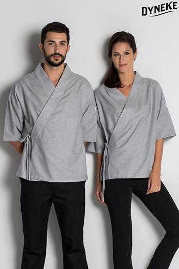 Kimono unisex gris