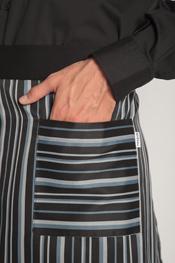 Delantal corto raya tejida