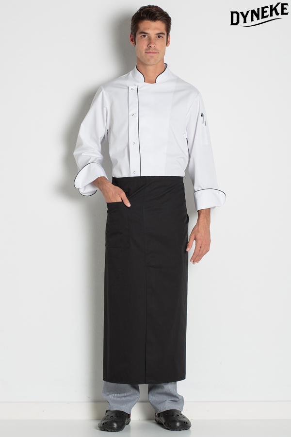 c22566864449 Delantal negro francés envolvente. Delantales y ropa de trabajo para ...