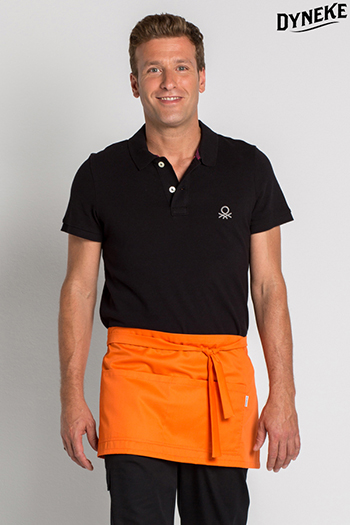 Orange short apron