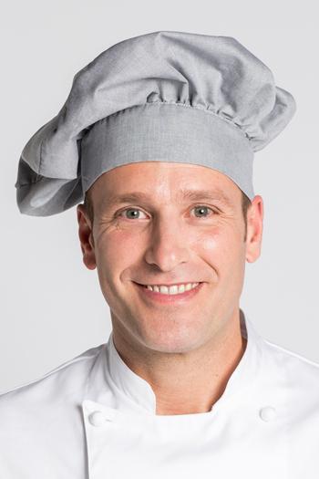 Gorro cocinero gris