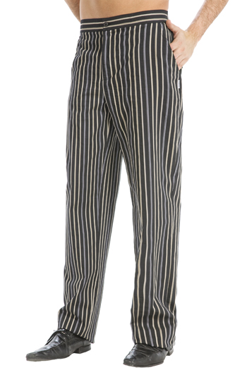 Diplomatic striped chef pants