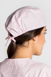 Gorro sanitario estampado rosa