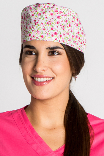 Surgical Cap 'Pink Flowers'