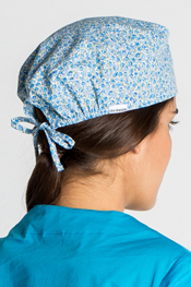 Surgical Cap 'Blue Flowers'