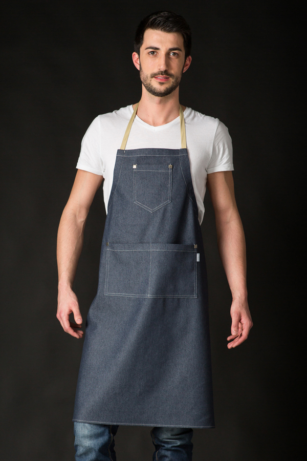 Delantal peto envolvente ropa para camarero con diseno - Ropa de hosteleria barcelona ...