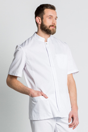 Chaqueta caballero manga corta blanca