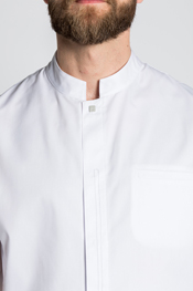 White tunic men short sleeve
