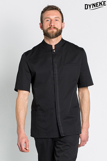 Black short sleeve men tunic for facilities