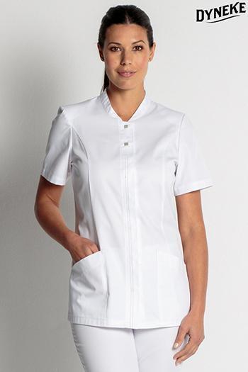 White tunic lady short sleeve