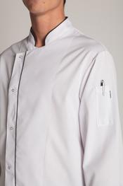 Chaqueta chef vivo blanca