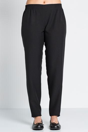 Black pants flat waist