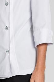 Chaqueta cocinera blanca s/cuello