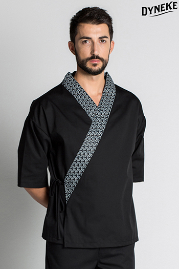 Kimono unisex negro