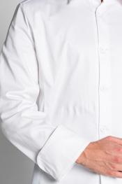 Chaqueta cocinero blanca cuello camisero