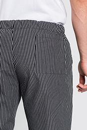 Pantalón cocinero negro rayado