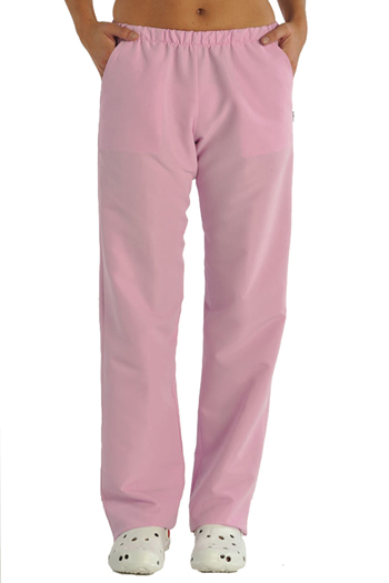 Pink microfiber pants