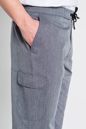 Pantalon caballero rayas marino