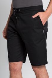 Men's black shorts.
