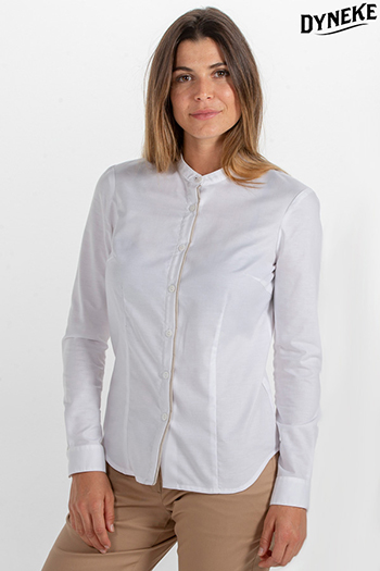 Camisa senora blanca cuello mao