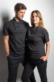 Camiseta negra caballero hostelería 'fusion'