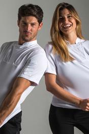 Camiseta blanca caballero hostelería 'fusion'