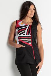 Daisy pattern tunic sleeveless