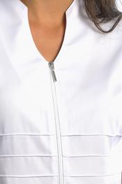 Stylist vest with high neckline