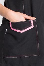 Pichi negro con contrastes rosa