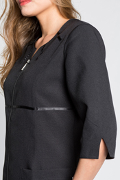 3/4 sleeve dyneke jacket with satin straps