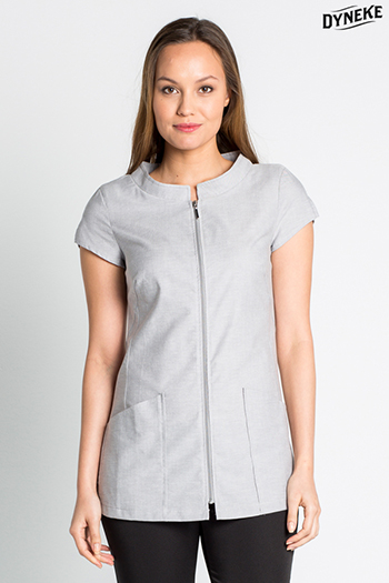 Grey high neckline tunic