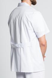 White lapel short tunic