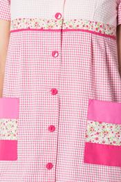 Bata profesora manga corta rosa