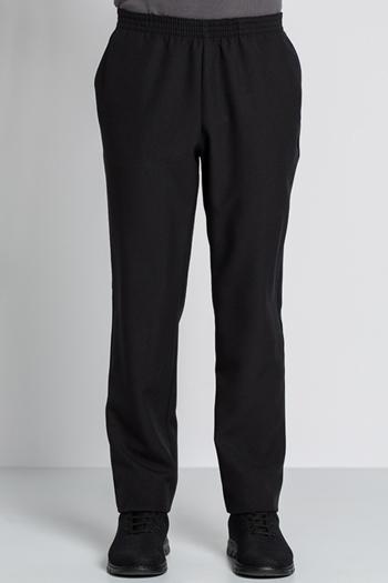 Pantalón negro poliéster con bolsillos
