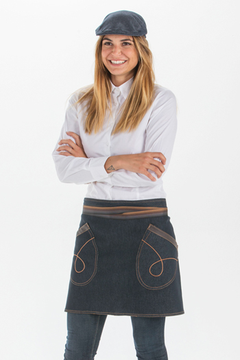 Denim short apron