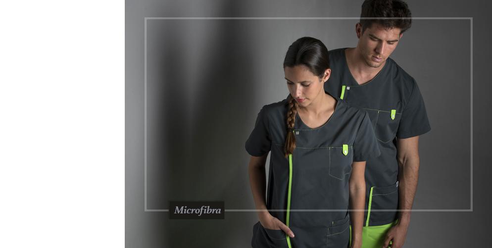 uniformes de microfibra