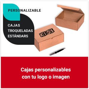 Cajas troqueladas estándars personalizables