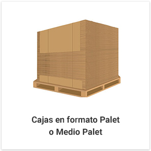 Cajas en formato Palet