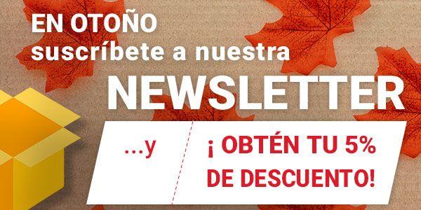 5% dto. Suscripción a Newsletter