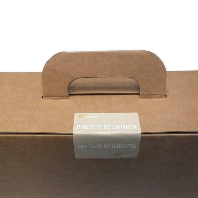 Etiqueta adhesiva precinto de garantia prueba