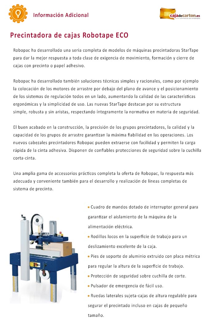 Precintadora de Cajas Robotape ECO 50 o 75