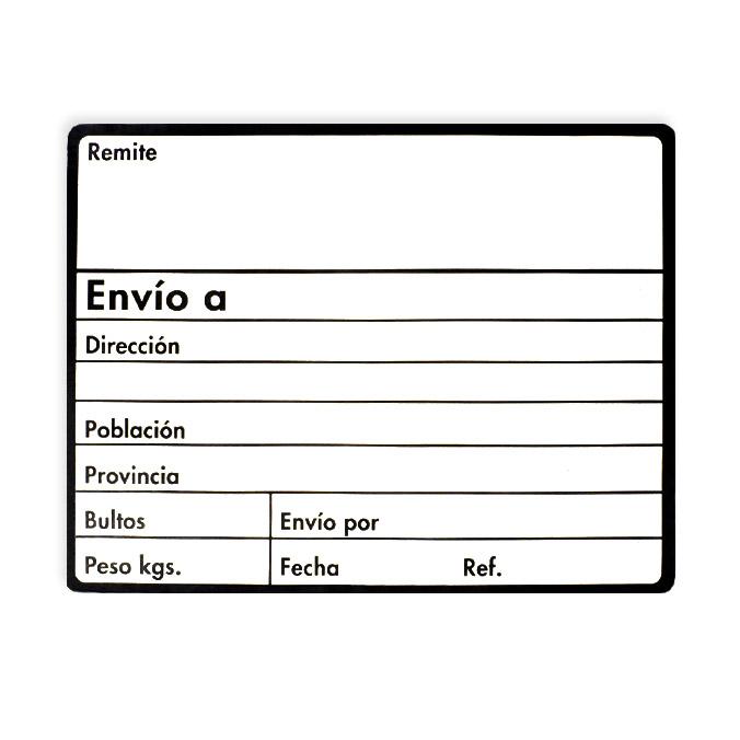 Etiquetas adhesivas para envio