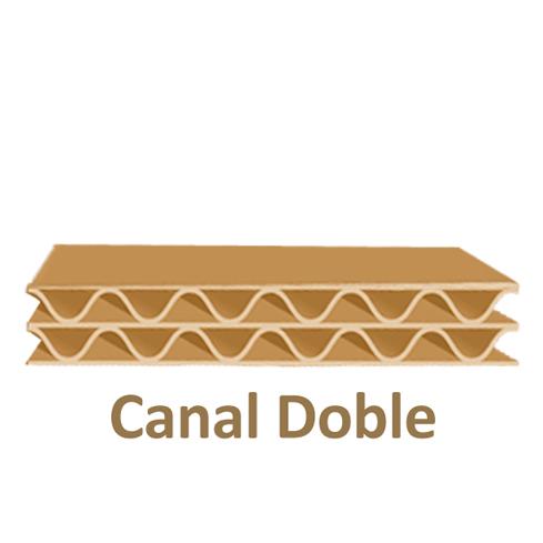 Dibujo canal doble caja de carton