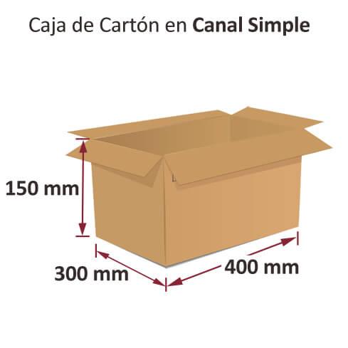 Dibujo medidas cajas al por mayor canal simple 400x300x150mm