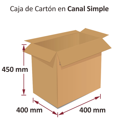 Dibujo medidas cajas al por mayor canal simple 400x400x450mm