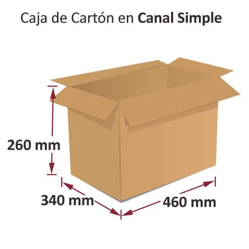 Dibujo medidas cajas al por mayor canal simple 460x340x260mm